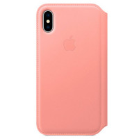 Чехол для iPhone Apple iPhone X Leather Folio Soft Pink